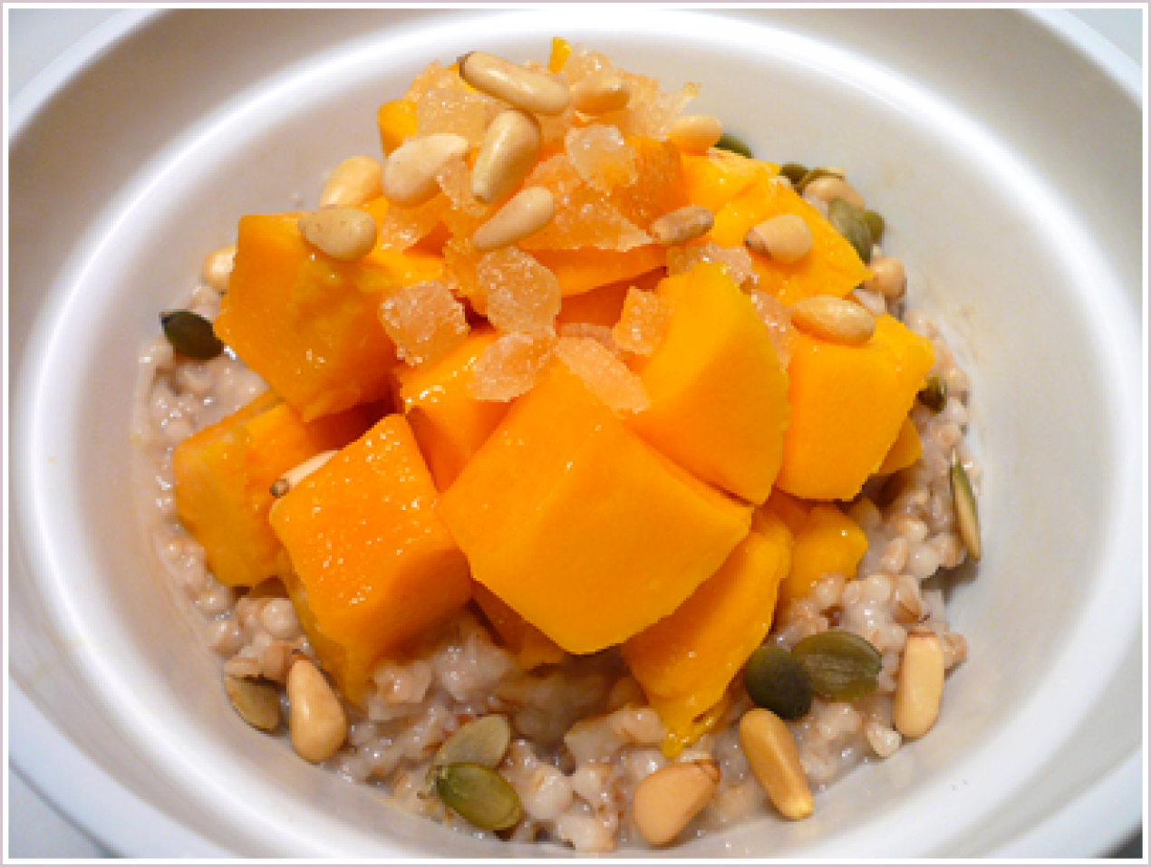 Melody Gourmet Fury  Austin Food Writer And Photographer » Mangoes And  Steel Cut Oats Recipe