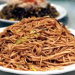 Yi-mein in abalone sauce