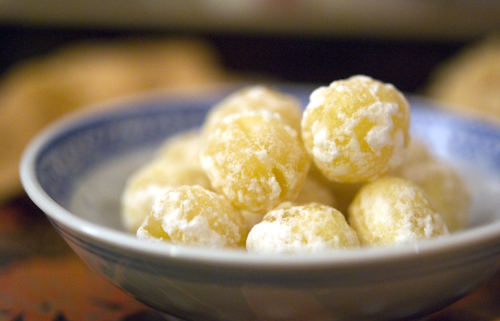 Candied Lotus Seeds - Chinese New Year snack foods demystified by Melody Fury