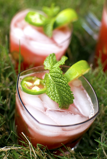 Watermelon jalapeño cocktail cooler by Melody Gourmet Fury