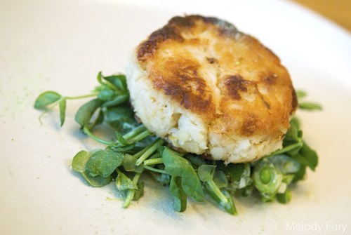 Crab Cake at Market by Jean Georges in Vancouver by Melody Fury