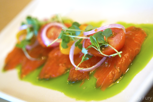 Salmon Sashimi at Market by Jean Georges in Vancouver by Melody Fury