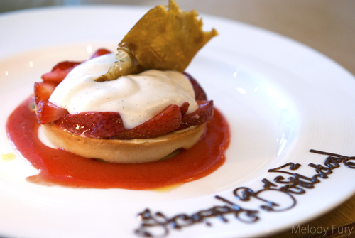 Strawberry Passionfruit Tart at Market by Jean Georges in Vancouver by Melody Fury