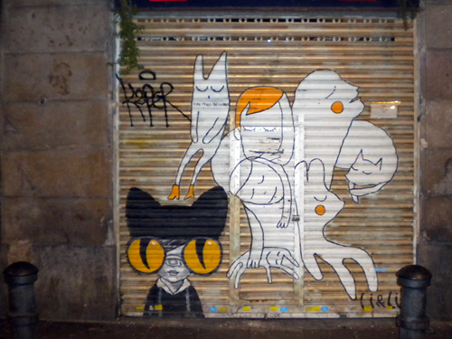 Barcelona graffiti alley ways by Melody Fury