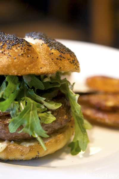 Burger at Gruner in Portland by Melody Gourmet Fury