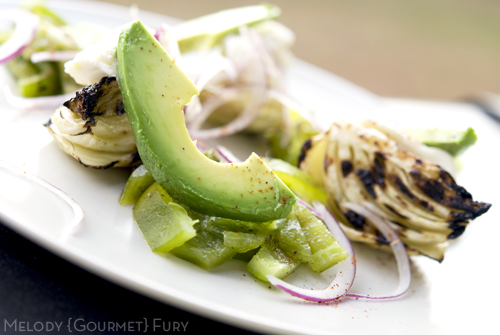 Avocado Hatch Green Chile Pepper Salad by Melody Gourmet Fury