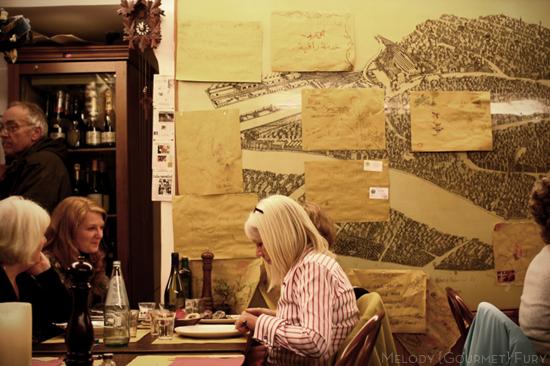 The space at Trattoria Al Gazzettino in Venezia Venice Italy by Melody Gourmet Fury