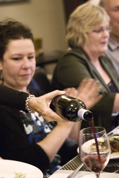 Guests enjoying the 2009 Merlot Reserve Platinum Label from Mt. Lehman Winery at Gumboot Dinner at Seasonal 56 Restaurant in Langley, BC by Melody Gourmet Fury