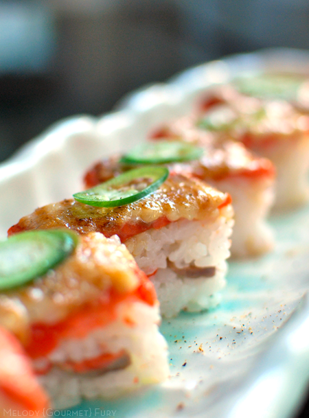 Salmon Aburi Sushi Sea Choice Ocean friendly sustainable seafood, sashimi, sushi by Melody Gourmet Fury