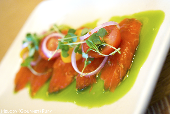 Salmon tataki Sea Choice Ocean friendly sustainable seafood, sashimi, sushi by Melody Gourmet Fury
