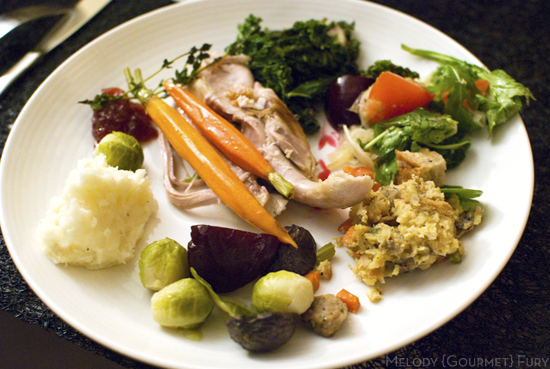 Japanese miso salad dressing and turkey for Thanksgiving by Melody Gourmet Fury