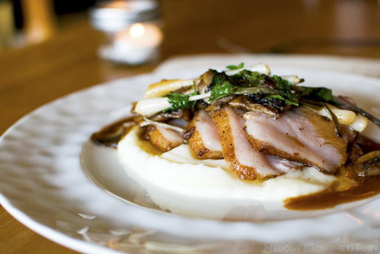 Duck breast at Refuel Restaurant in Kitsilano Vancouver, BC by Melody Gourmet Fury
