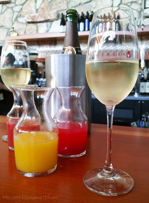 Mimosa Trio at Olivia Restaurant in Austin, Texas by Melody Gourmet Fury