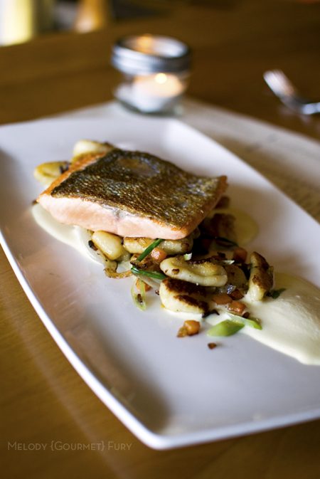 Salmon at Refuel Restaurant in Kitsilano Vancouver, BC by Melody Gourmet Fury