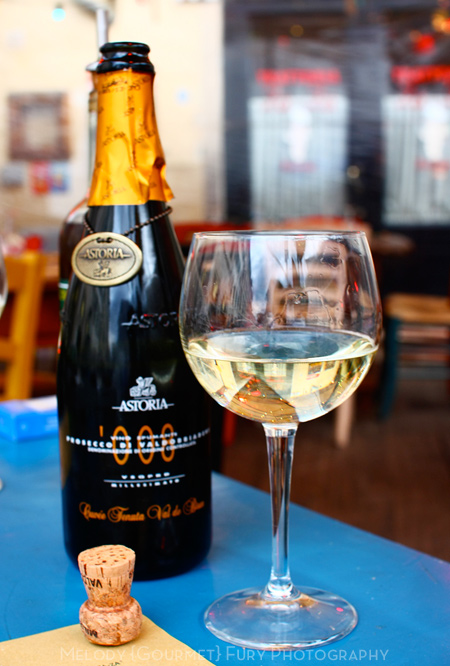 Astoria Prosecco at Ristorante Trattoria ZaZa Firenze in Florence Italy by Melody Fury Photography. Food, Drink, Restaurant Photographer and Writer in Vancouver BC and Austin TX