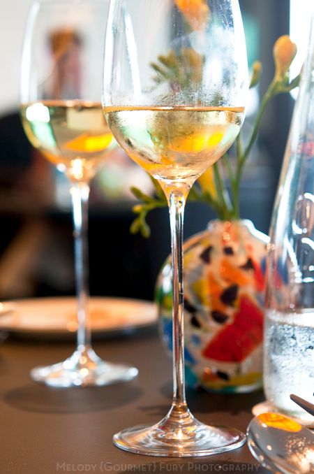 Wine and stemware at Sevva Restaurant in Hong Kong by Melody Fury Photography. Food, Drink, Restaurant Photographer and Writer in Vancouver BC and Austin TX