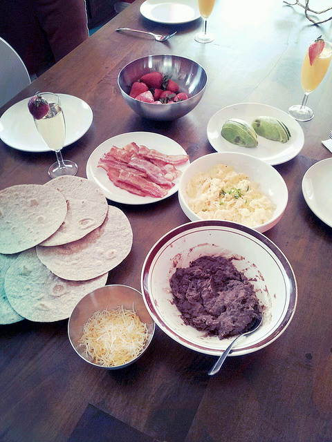 Breakfast tacos at home by Melody Fury Photography. Food, Drink, Restaurant Photographer and Writer in Vancouver BC and Austin TX