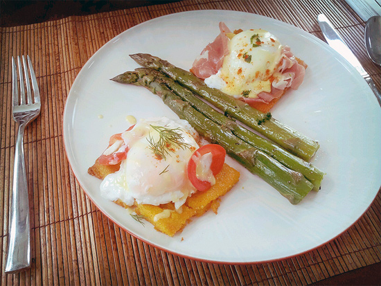Prosciutto and crab meat eggs benedict by my friend @sickation by Melody Fury Photography. Food, Drink, Restaurant Photographer and Writer in Vancouver BC and Austin TX