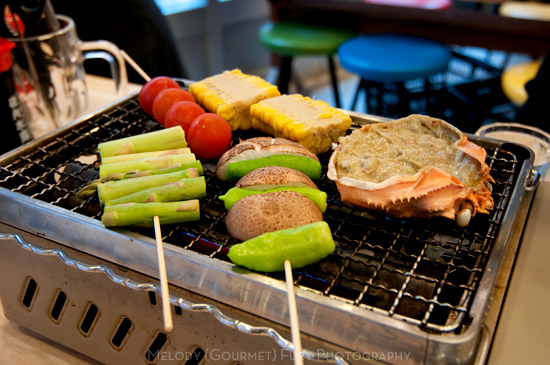Grilled Vegetables Yakiniku at Late Night Restaurants in Shinjuku Tokyo by Melody Fury Photography. Food, Drink, Restaurant Photographer and Writer in Vancouver BC and Austin TX