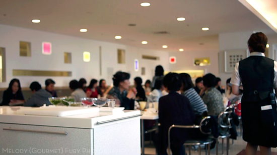 Cafe upstairs  at Takano Fruit Parlour in Tokyo Japan by Melody Fury Photography. Food, Drink, Restaurant Photographer and Writer in Vancouver BC and Austin TX