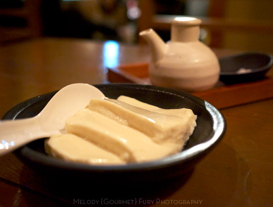 Fresh tofu made tableside at 豆腐料理 空ノ庭 tofu restaurant in Tokyo Japan by Melody Fury Photography. Food, Drink, Restaurant Photographer and Writer in Vancouver BC and Austin TX