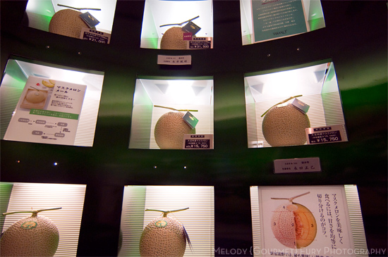Perfect melons at Takano Fruit Parlour in Tokyo Japan by Melody Fury Photography. Food, Drink, Restaurant Photographer and Writer in Vancouver BC and Austin TX