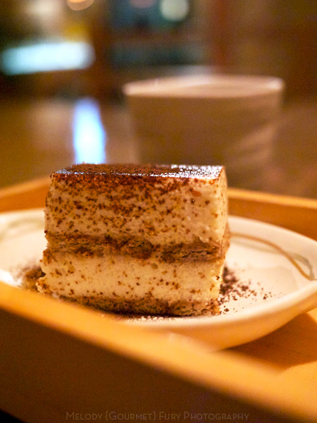 Tofu tiramisu at 豆腐料理 空ノ庭 tofu restaurant in Tokyo Japan by Melody Fury Photography. Food, Drink, Restaurant Photographer and Writer in Vancouver BC and Austin TX