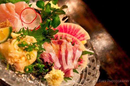 Chicken sashimi at Yakitori Akira Grilled Chicken Restaurant 焼鶏 あきら in Naka-meguro, Tokyo Japan
