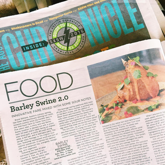 Review: Barley Swine for The Austin Chronicle | Melody Fury | Food & Cocktail Writer, Restaurant Reviewer in Austin TX