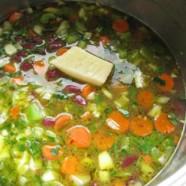 Cranberry Bean Soup Recipe – Mâche Crostini with Prosciutto di Parma