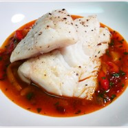 Bouchon's Cod with a Stew of Sweet Peppers Recipe Pt 3: Complete