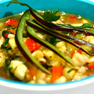 Grilled Corn and Chili Lime Soup Recipe: Salute, Summer Market