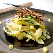 Bamboo Shoot Salad Recipe with Soba Crisps and Wasabi Mayo