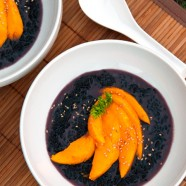 Coconut Black Forbidden Thai Rice Dessert with Mangoes Recipe