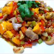 Mango Ginger Chicken with Cashews Recipe