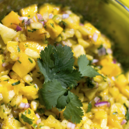 Mango Salsa Recipe and How to Choose and Carve a Pineapple