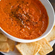 Simple Roasted Red Pepper Hummus Dip Recipe